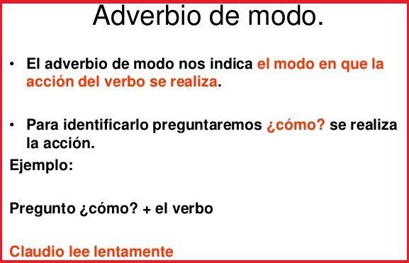 Adverbio de modo